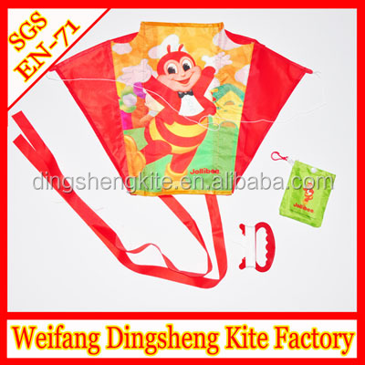 No frame Promotional foldable kite flying mini Kites soft power kites