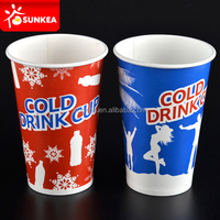 Disposable printed paper big cold cola cup