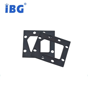 Custom shape silicone NBR EPDM FKM rubber square ring gasket seal