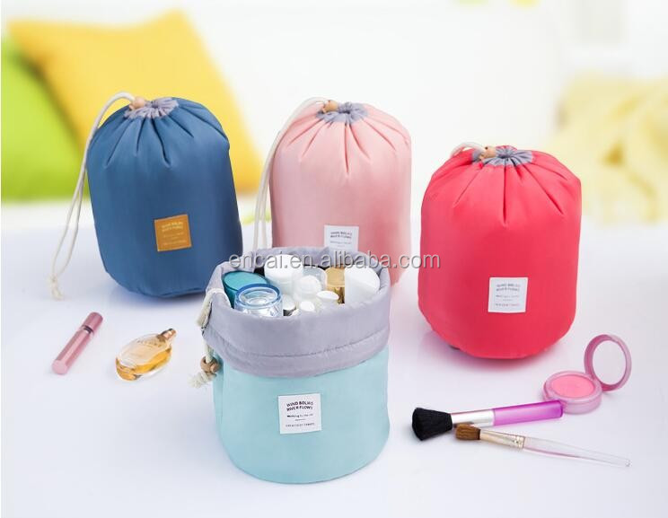 Encai New Model Circle Cosmetic Bag Drawstring Organizer Bag Inserts