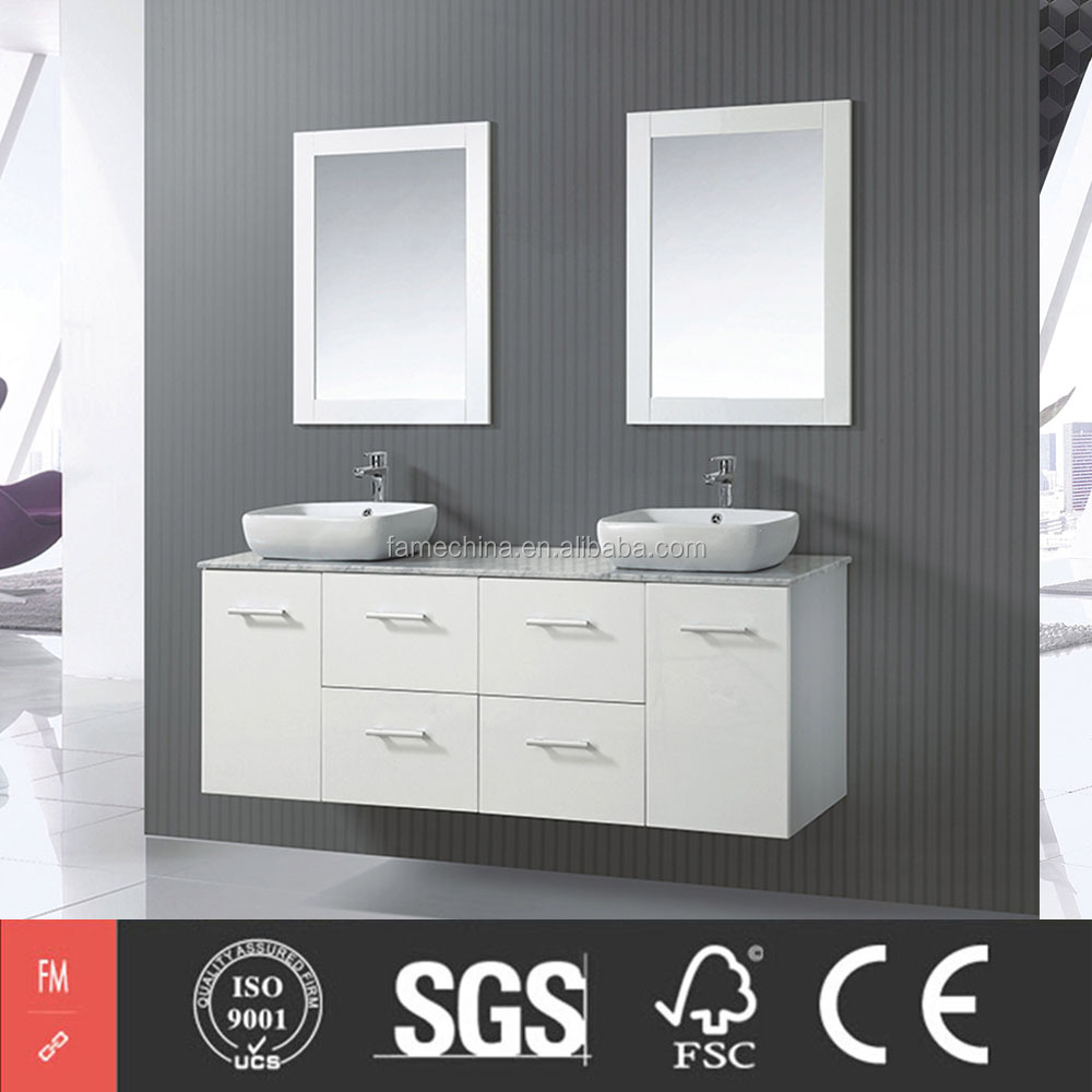 Luxury Hotel Room Furniture Wall Mounted Bathroom Vanity Set