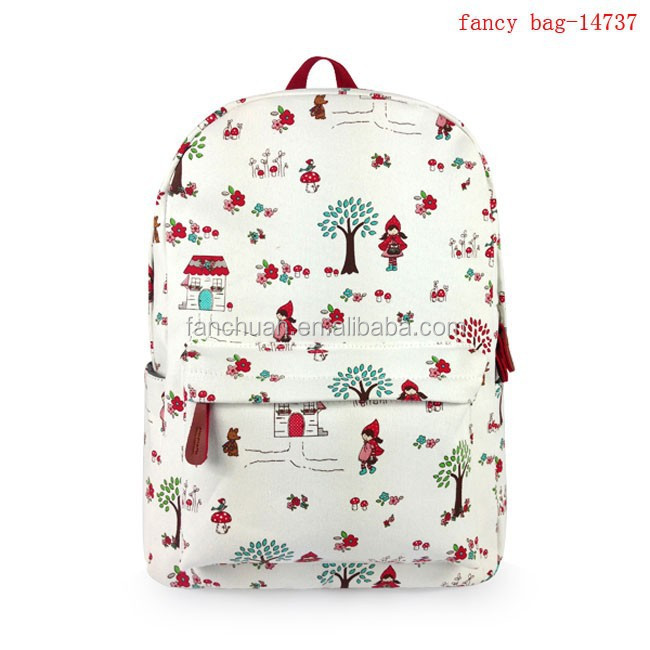 Fashion stylish college high school girls travel backpack