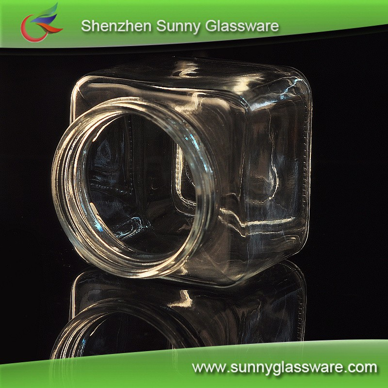500ml 600ml 800ml Glass Jar with lid wholesale