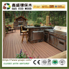 2017 new design low price wood plastic composite decking outside rotproof wpc decking