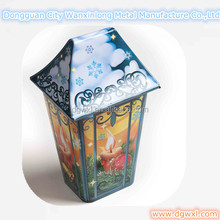 Special house shaped tin container for gift
