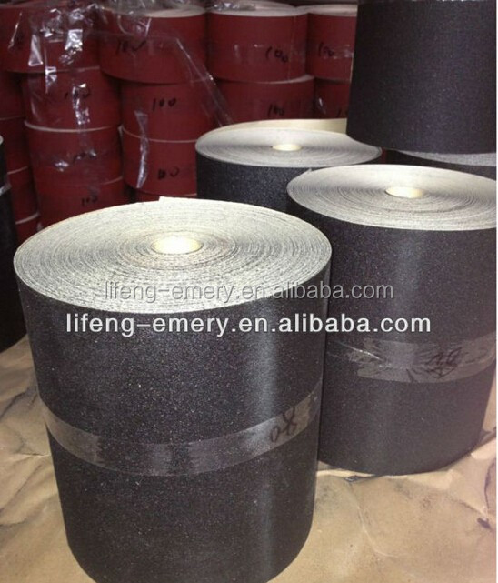 Factory direct sale emery paper roll with aluminium oxide silicon carbide coated