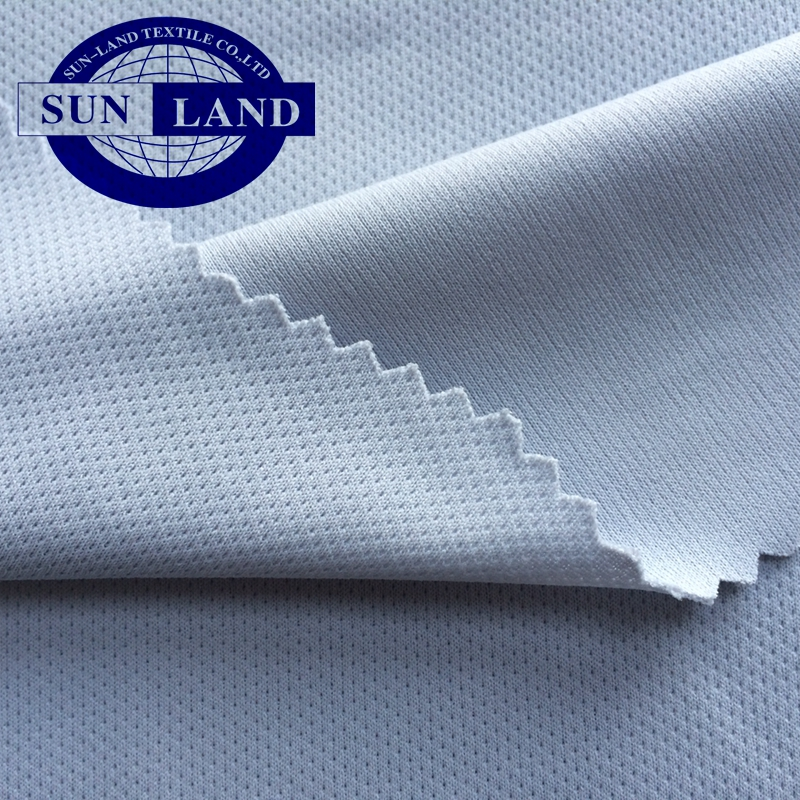 50D antimicrobial antibacterial silver ion nano dry fit eyelet fast drying mesh fabric