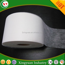 China supplier hydrophilic non woven fabric top sheet raw material for baby nappy adult diaper and sanitary napkin