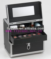 Aluminum compact beauty trolley case