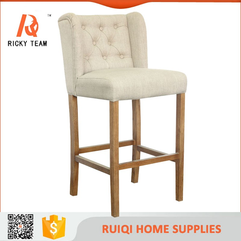 Funky fabric covered colorful bar stool high chair tufted for Funky fabric dining chairs