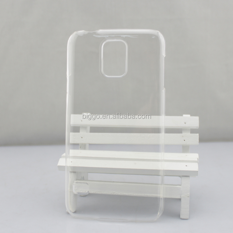 Clear White Black Plastic Phone Case Printer Case For Samsung S5