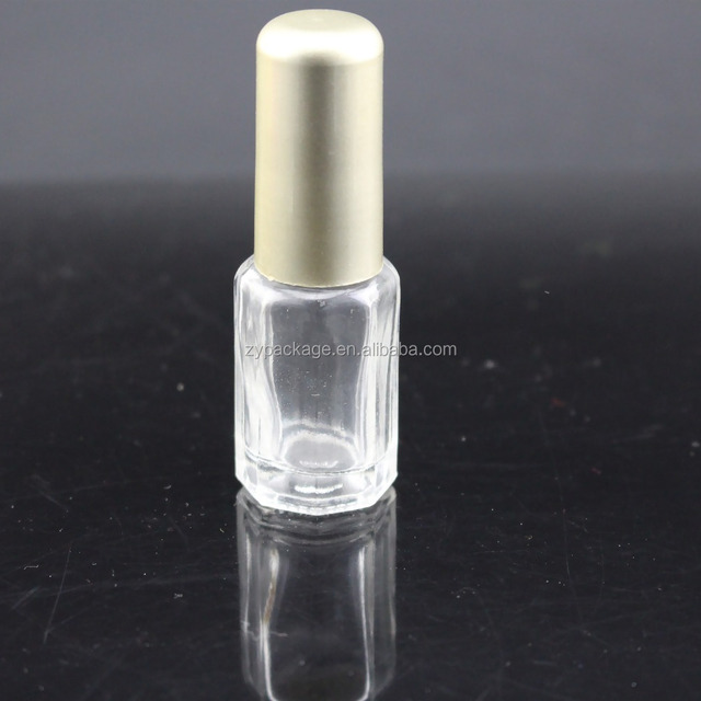 10ml hexagonal empty nail polish bottle for Neil Gel with brush