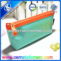 PVC soft pen bag/zipped pencil bag for school students/high quality pencil pouch