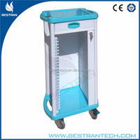 BT-CHY002 medical patient records ABS cart movable trolley with wheels