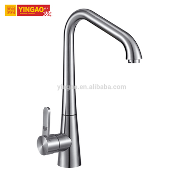 Brushed nickel High UPC Pull down single handle upc kitchen faucet