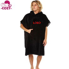 2017 Thick Absorbent Terry Cotton Changing Surf Poncho Robe With Hood One Size Fit All Best Beach hooded Towel Poncho For Adult