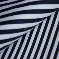 latest design textile fabric cotton stripe fabric black and white