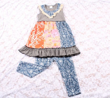 kids clothes 2015 new products fall outfits printed pants fancy birthday baby outfits christmas girls outfits