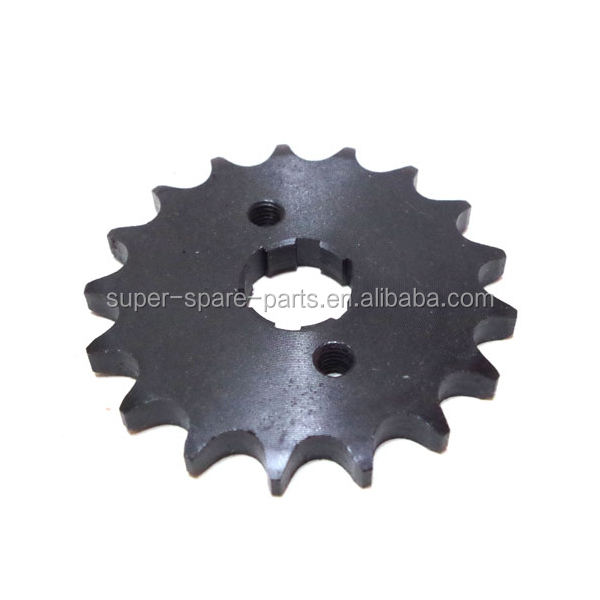 Hot selling 428 motorcycle chain sprocket for 100cc Engine go kart sprocket