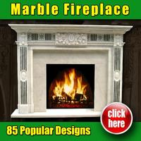 Made in China high quality marble fireplace back panels