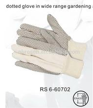 RS SAFETY light duty firm grip pvc dotted cotton gloves for industrial use