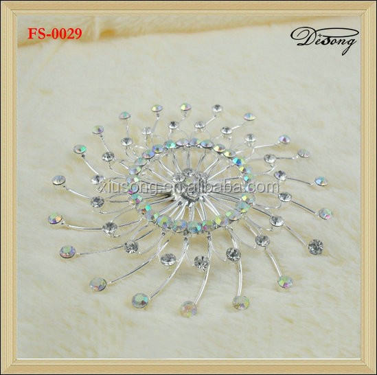 FS-0029 decorative rhinestone crystal hair comb hair comb for hair
