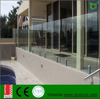 Stainless Steel 316 Balcony Glass Railing Balustrades Handrails Made By PNOC