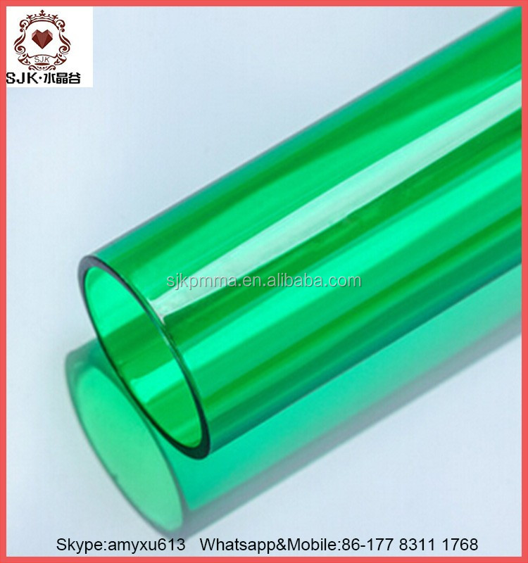 Large diameter clear acrylic tube pipe