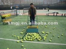 tennis ball collecting cart and tennis equipment
