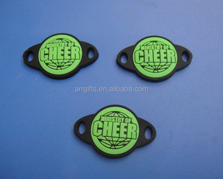 Cheap Promotional Ministry Of Cheer Rubber Shoelace Tag