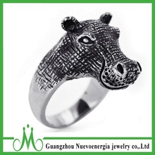 Stainless steel animal ring hugry horse ring jewelry aniamla finger ring