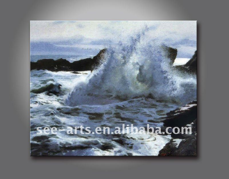 handmade seascape canvas oil painting