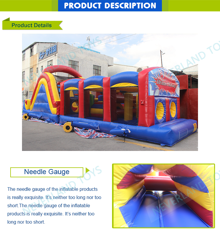 Neverland Toys IFO-40 40' Ultimate Challenge Obstacle inflatable obstacle course inflatable obstacle course for sale