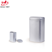 round edge sliver tin box with lid