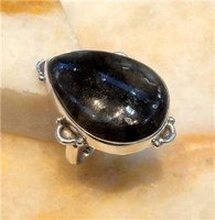 Labradorite 925 Silver Ring Size UK/US P/8 R345
