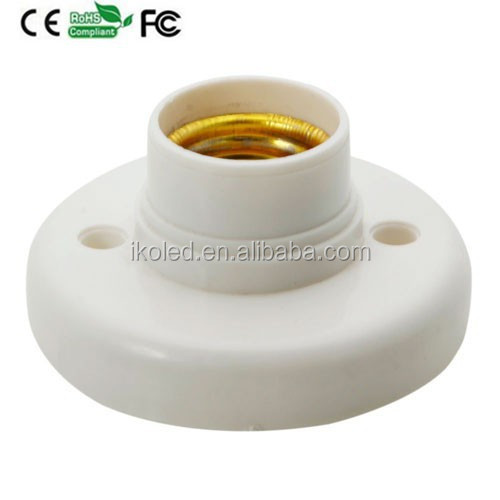 E27 Lamp Holder Lamp Base Plastic Shell Round Base E27 Socket Lamp Bulb Holder