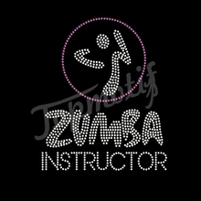Design For Tshirt Printing Rhinestone Transfer Zumba Instructor