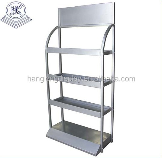 Metal  free standing engine oil display rack