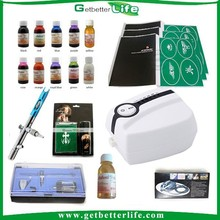 2015 Prpfessional Hot sale cheap <strong>airbrush</strong> tattoo kits/<strong>airbrush</strong> makeup kit with compressor/temporary <strong>airbrush</strong> tattoo kit