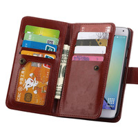Guangzhou Phone Case Luxury Fashion Pu Leather Magnet Wallet Credit Card Holder Flip Cases For Galaxy S5