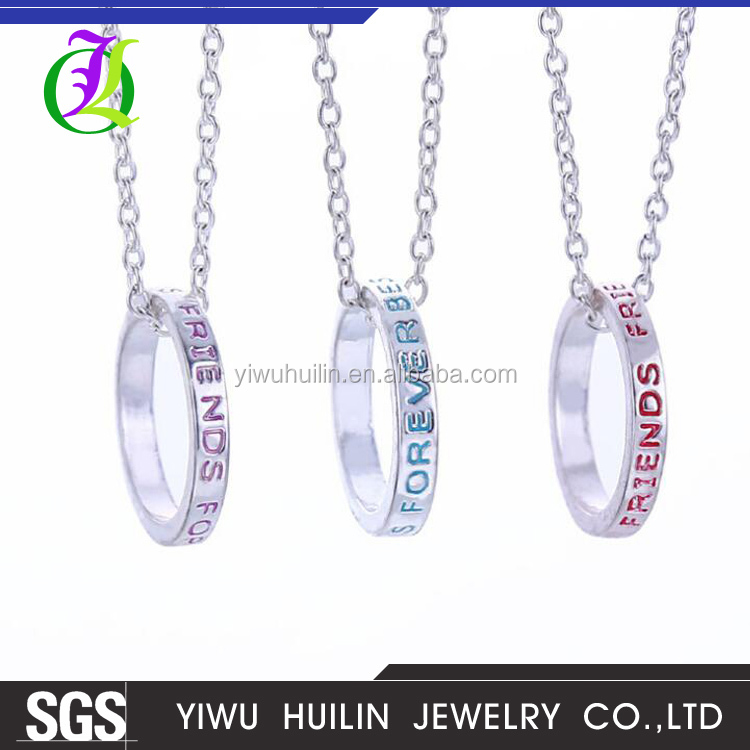 JTN 065 Yiwu Huilin Jewelry Best friend necklace short necklace fashion clavicle chain alloy jewelry ornaments