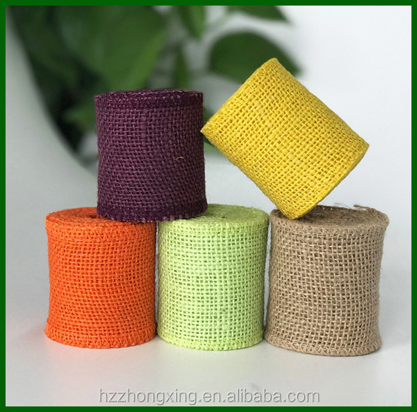 Eco-friendly colored and printed jute fabric