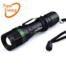 Telescopic Zoom CREE Q5 LED Flashlight with 3-mode Dimmable Torch Light