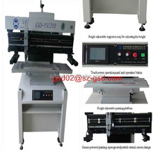 Semi auto solder paste screen printer for SMT of LED lights production