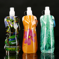 custom printed Sport Foldable Water Bottles,pouch nylon shopping bags