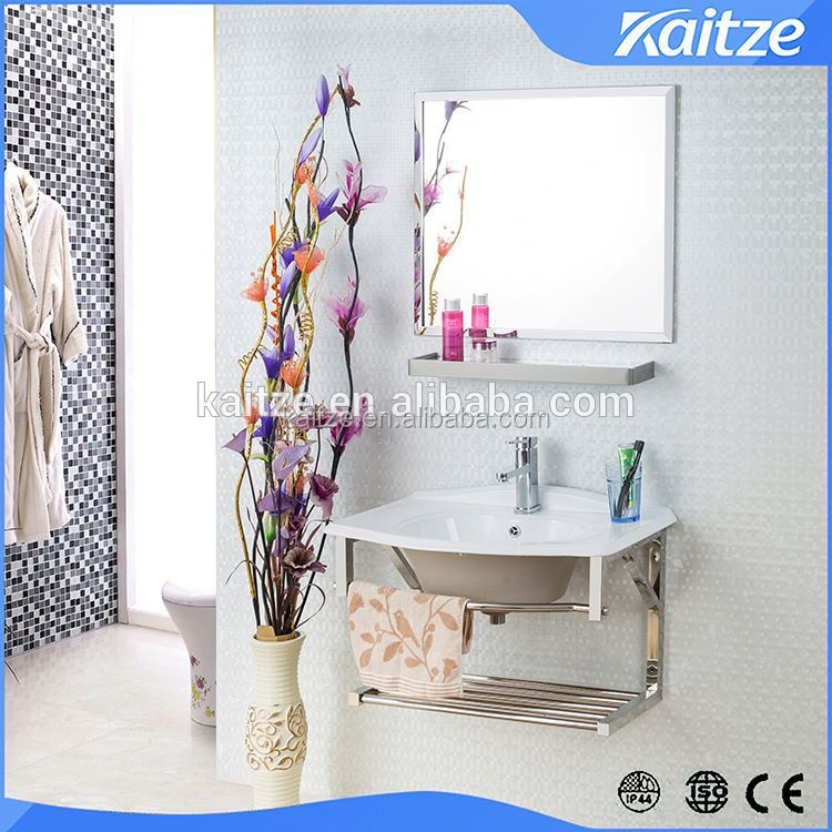 Stainless steel wall hung classic vanity units for small bathroom