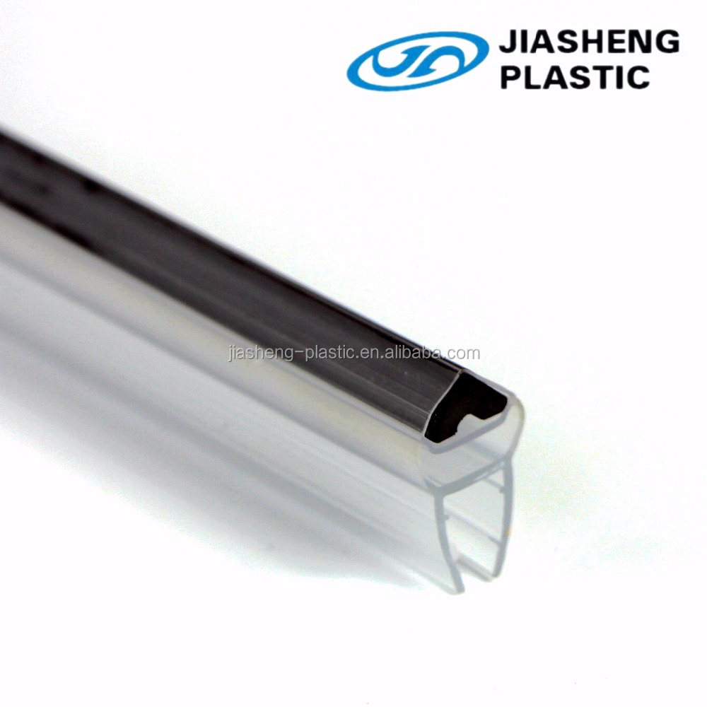 Top quality Clear PVC extrusion 90 &180 degrees magnetic sealing strip/waterproof seals