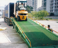 5-15t warehouse hydraulic container dock ramp mobile loading for forklift