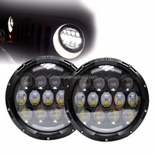 2016 New Pair 4X4 Accessories Off road Headlight 78w C ree Head light Led With Daytime Halo 7 inch Led Headlamp for j e e p wran
