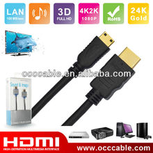 1080P hdmi to mini hdmi cable with Ethernet